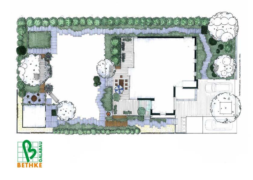 moderne gartengestaltung › bethke - garten und landschaft, Garten ideen
