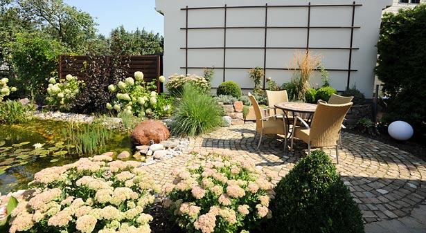Terrasse, gepflastert