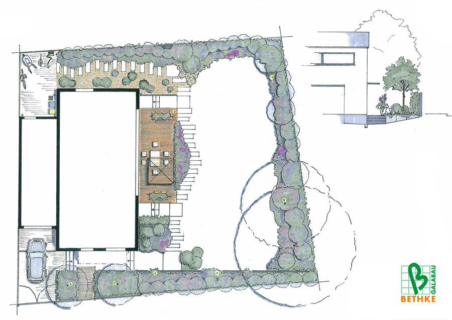 Gartenplanung Leipzig :: Beispiele Gartenplanung › Bethke - Garten und Landschaft