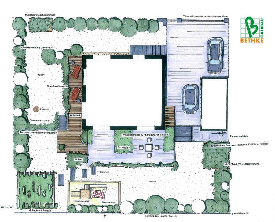Gartenplanung leipzig beispiele gartenplanung bethke for Gartengestaltung zeichnung